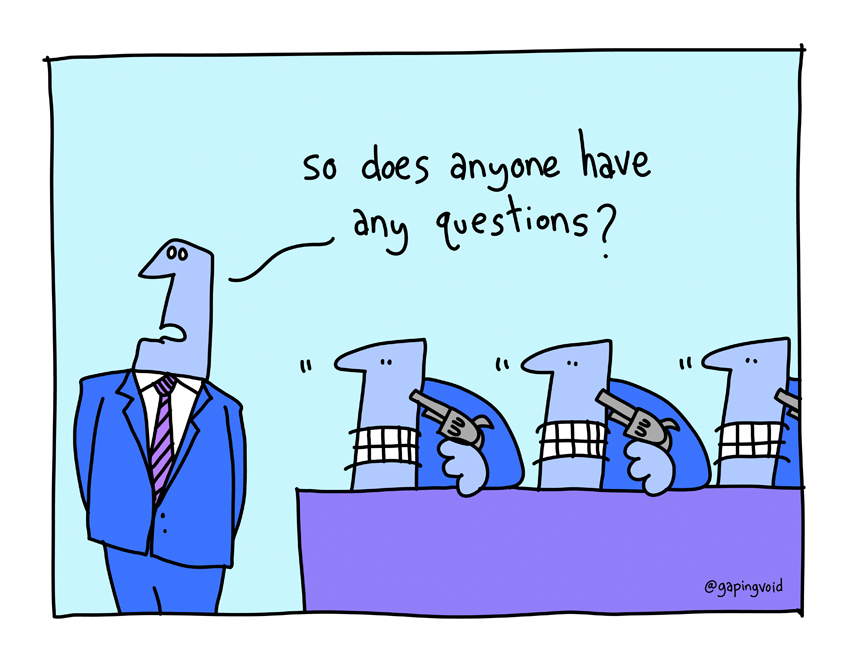 Any questions cartoon