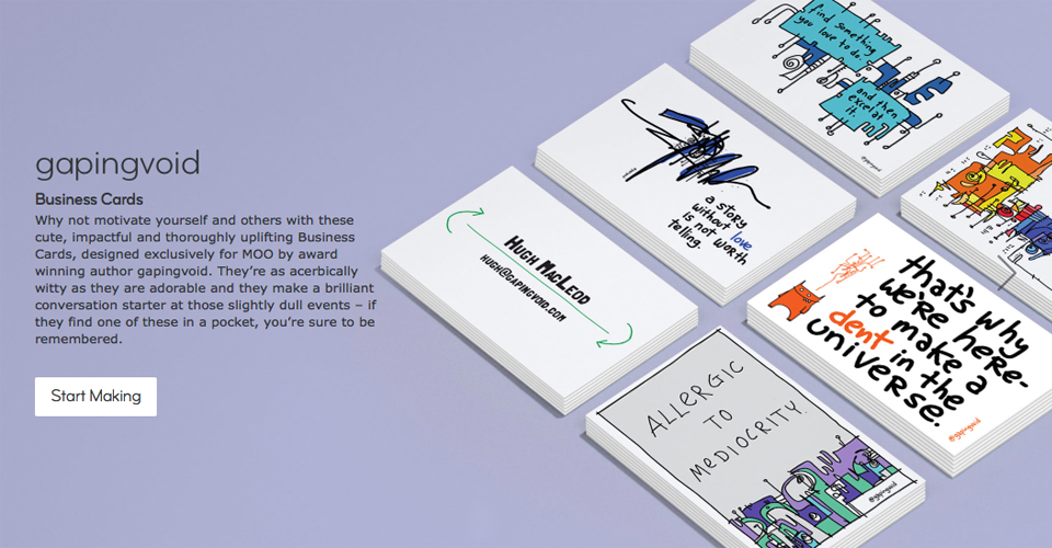 Business Cards Archives - gapingvoid art