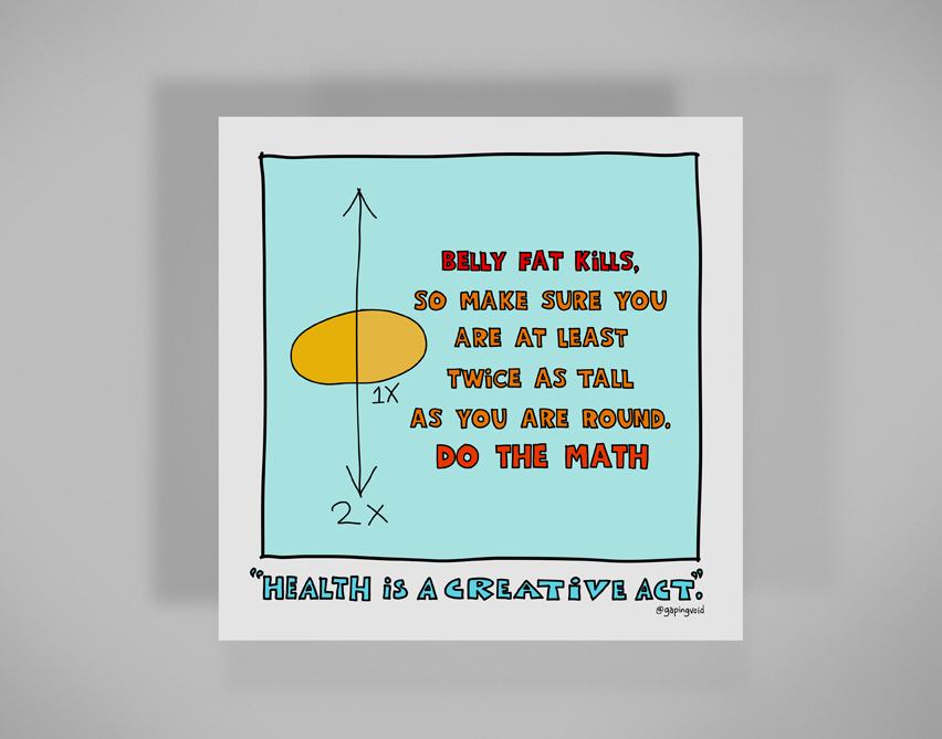 Belly Fat Kills - gapingvoid art